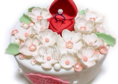 Anniversary ring cake