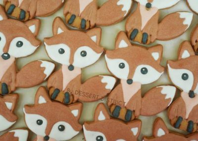 Cute fox cookie set