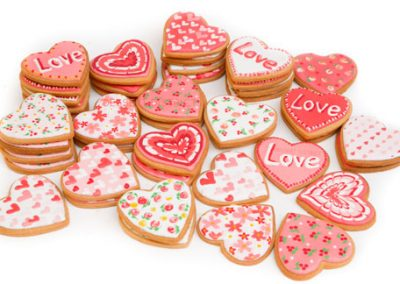 Heart shape icing cookie set