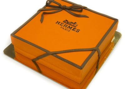 Hermes Orange Box Theme Cake
