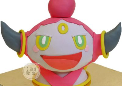 Pink Hoopa customfondant cake
