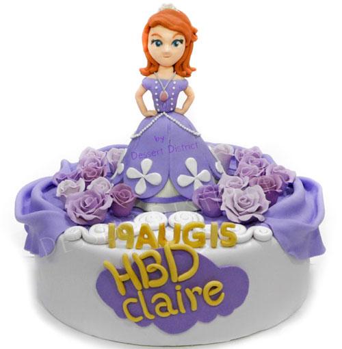Princess Sofia fondant cake