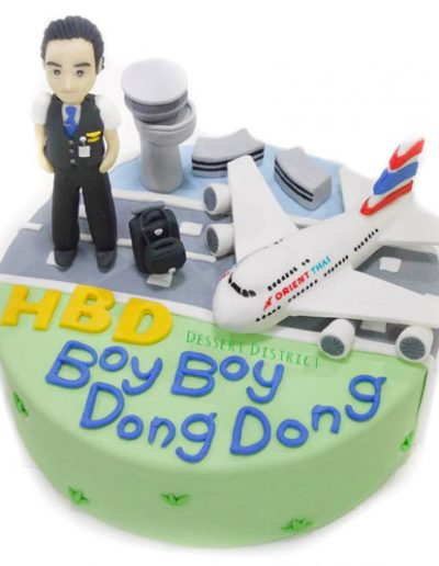 Steward and Orient Thai airplane fondant cake
