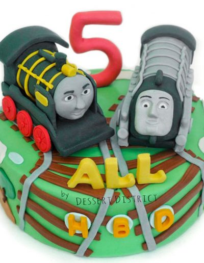 Thomas racing train cake