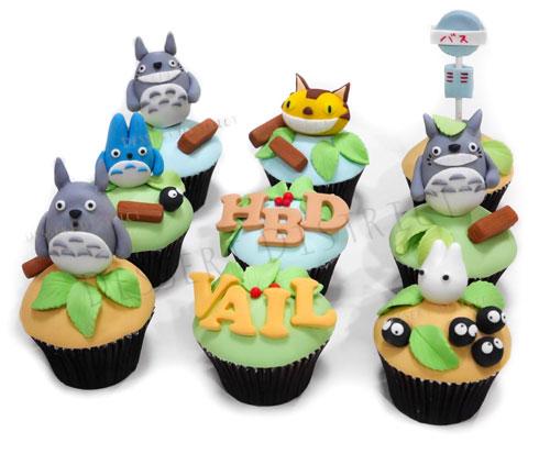 Totoro Studio Gibi fondant cupcake